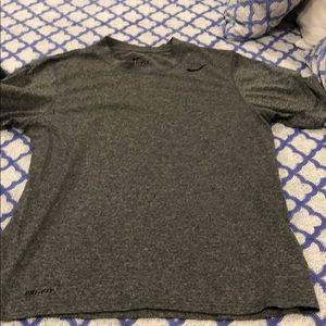 Nike dri fit grey shirt